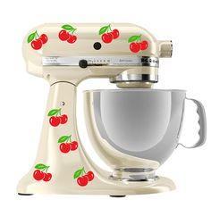 cherry art decals for a kitchenaid mixer by Walkingdeadpromotions on Etsy, $9.99
