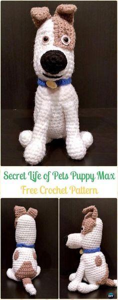 Crochet The Secret Life of Pets Puppy Max Free Pattern - Amigurumi Puppy