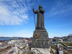 A Scandinavian priest named Hans Egede founded Nuuk, Greenland, in Greenland Travel, Nuuk Greenland, Tours, Cool Places To Visit, Arctic, Statue Of Liberty, Scandinavian, Vacation
