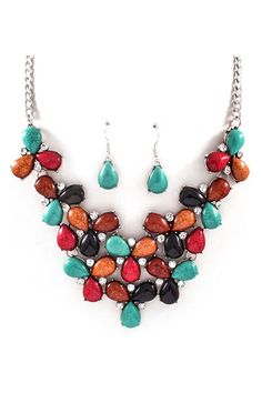 Michaela Necklace Set in Tuscan on Emma Stine Limited