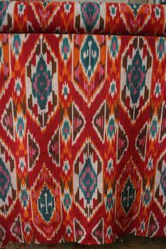 Ikat Red Multi Fabric CityCraft Dallas