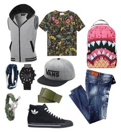 """shark"" by darrick-howard-ii on Polyvore featuring Gucci, adidas, Sprayground, MIANSAI, Vans, Forever 21, Hurley, men's fashion and menswear"