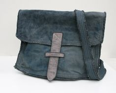 recycled denim messenger bag 5 by veronicavartic on Etsy, $135.00