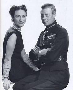 "King Edward VIII ""David"" (Edward Albert Christian George Andrew Patrick David) (1894-1972) Prince of Wales UK & wife Wallis Simpson (Bessie Wallis Warfield-Spencer-Simpson) (1896-1986) USA, Duke & Duchess of Windsor."