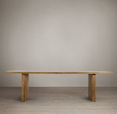 "$4995 138"" Reclaimed Russian Oak Plank Rectangular Dining Tables"