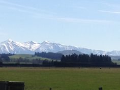 The Southern Alps after a recent storm.