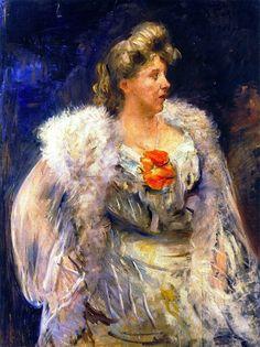 The Singer Frieda Halbe - Lovis Corinth - 1905