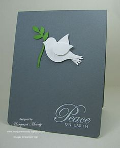 "SU Greetings of the Season * sub Four the Holidays *, Bird Builder Punch, 3/16"" Corner Punch, white embossed (Oct 7, 2013)"