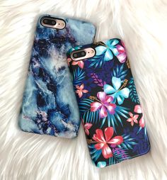 Adding a pop of color to our weekend Lilac Kiss & Geode for iPhone 7 & iPhone 7 Plus from Elemental Cases