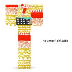 2016 Summer tsumori chisato Yukata Waves Red Yellow