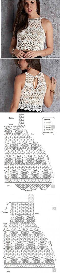 Simple crochet top