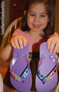 Decorate your own flip flops! Looks like a fun summer project!