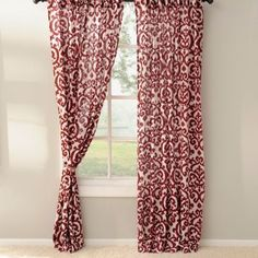 Red Darby Curtain Panel Set, 96 in. | Kirklands