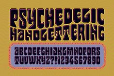 Psychedelic Handlettering by Mysterylab Designs on @creativemarket