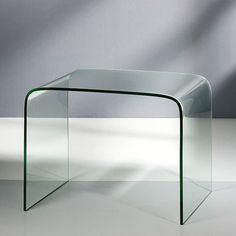 Mesa Auxiliar Cristal Suvi - Mesas Auxiliares Modernas - Mesas Cristal
