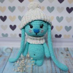 This simple amigurumi pattern gives a wide field for your creativity and imagination. Use different colors, create cute accessories for your little bunny!