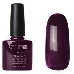Halloween nail colours. CND Dark Dahlia.