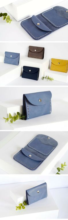 credit card wallet Pale blue leather wallet Unisex wallet Small mens wallet for men Wallet for women Credit cards holder Coins wallet Coins pocket Mini wallet Credit Card Wallet, Credit Cards, Wallets For Women Leather, Leather Men, Handmade Leather Wallet, Coin Wallet, Minimalist Wallet, Leather Projects, Small Leather Goods