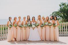 gorgeous bridesmaids dresses {California wedding style}