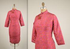1950s silk cheongsam dress vintage 60s dress von MintageClothingCo