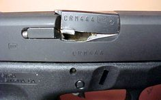 Glock. An overpressure situation can result in catastrophic failure of the weapon.