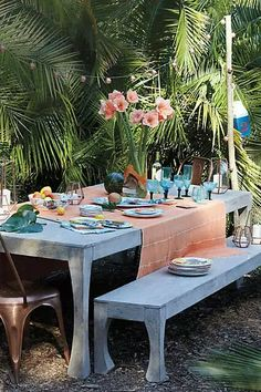 Paint the table Gray like Anthropologie's Navarra collection