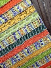 Rag Quilted Table Runner.