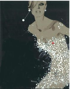 "Artist: Rene Gruau art....up for ""favorite illustration"" competition....a nominee."
