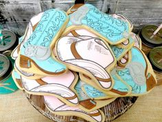 Cookies at a Vintage Cowboy and Cowgirl Party with Lots of REALLY CUTE IDEAS via Kara's Party Ideas KarasPartyIdeas.com #WesternParty #CowboyParty #CowgirlParty #cookies