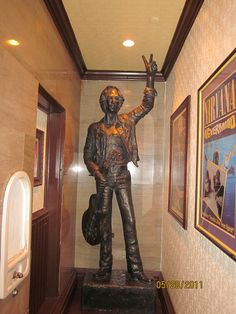 John Lennon Statue at Hard Rock Cafe Wash DC by Gary P. Smith,