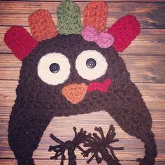 A personal favorite from my Etsy shop https://www.etsy.com/listing/252216158/newborn-turkey-hat