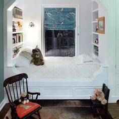 Built In Bed Alcove, boy's room, P2 Design