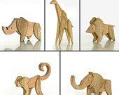 Magnetic Wooden Animal Kingdom Set