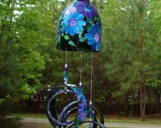 Wind Chime My Favorite Daisy made from recycled por BottleofLight