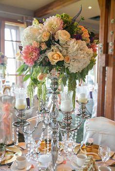 candelabra centerpiece ~ Barbara Rahal Photography