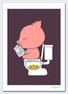 Piggy bank poo