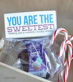 Sweetest gift idea - Glade candle with printable www.thirtyhandmadedays.com