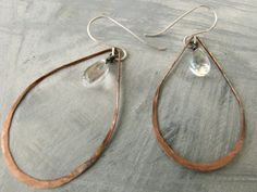 Copper Hoop Earrings