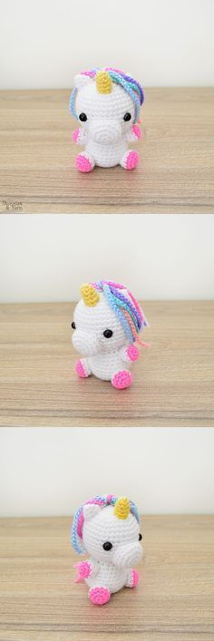 Crochet Pattern - Baby Unicorn - Amigurumi