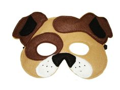Children's Animal DOG Felt Mask - product images  of