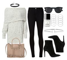 """""""Style #11347"""" by vany-alvarado ❤ liked on Polyvore featuring Joie, AG Adriano Goldschmied, Barbara Bui, Balenciaga, Yves Saint Laurent, Chanel and Tiffany & Co."""