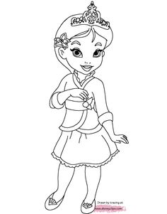 Little Disney Princess Coloring Pages