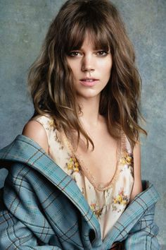 Freja Beha Erichsen photographed by Patrick Demarchelier for the August 2013 issue.Model Hair Muses: