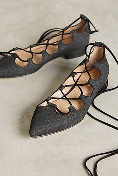 Billy Ella Lace-Up Flats #anthropologie #anthrofave