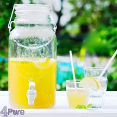 Homemade orange ice tea