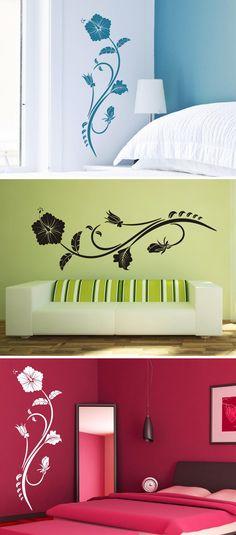 Hawaiiblume Wandtattoo Von Wandtattoo.com Wandtattoo Blumen, Bunte Farben,  Lieblingsfarbe, Schlafzimmer,