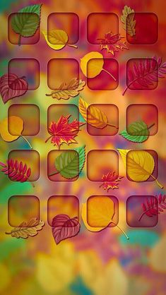 iPhone wallpaper autumn icons
