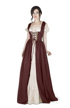 I Do Declare Renaissance Medieval Irish Costume Over Dress & Boho Chemise Set (L/XL, Steel Blue) Renaissance Fair Costume, Medieval Costume, Renaissance Clothing, Medieval Fashion, Medieval Outfits, Irish Costumes, Halloween Costumes, Halloween Ideas, Women Halloween
