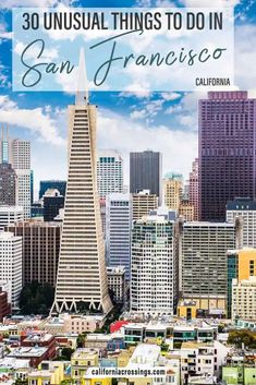 """These unique things to do in San Francisco goes beyond """"must see"""" sights. It includes unusual foods, cool neighborhoods, weird attractions and offbeat spots recommended by locals. Travel to San Francisco California"""