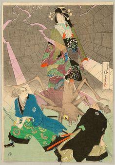 Ghost and Spider - Suzuki Kinsen 鈴木錦泉